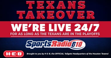 Brought to you by H-E-B, the OFFICIAL Tailgate Headquarters of the Houston Texans!
