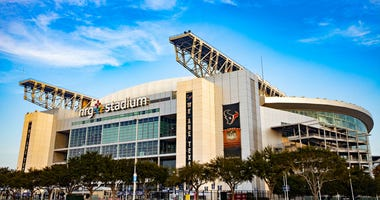 Exterior view of NRG Stadium, home of the Houston Texans, before a game against the Denver Broncos at NRG Stadium on December 8, 2019 in Houston, Texas.