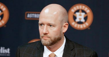 Houston Astros introduce James Click as their new general manager during a press conference at Minute Maid Park on February 04, 2020 in Houston, Texas.