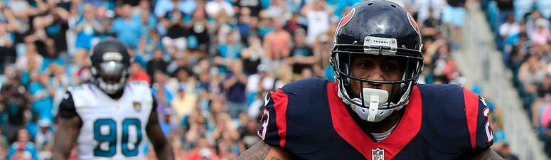 Arian Foster #23 of the Houston Texans runs for a touchdown during the game against the Jacksonville Jaguars at EverBank Field on October 18, 2015 in Jacksonville, Florida.