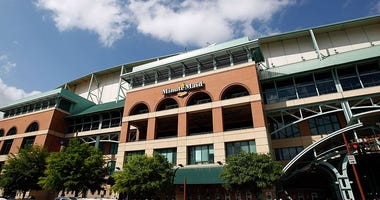 Exterior views of Minute Maid Park on April 5, 2010 in Houston, Texas.