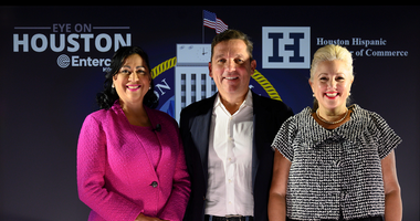 Sarah Frazier, Dr. Laura Murillo with candidate Tony Buzbee