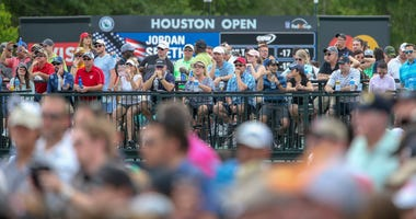 A general view of the crowd during final round of the Houston Open golf tournament at Golf Club of Houston - The Tournament Course.
