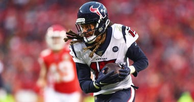 Houston Texans wide receiver Will Fuller V (15) against the Kansas City Chiefs in a AFC Divisional Round playoff football game at Arrowhead Stadium.