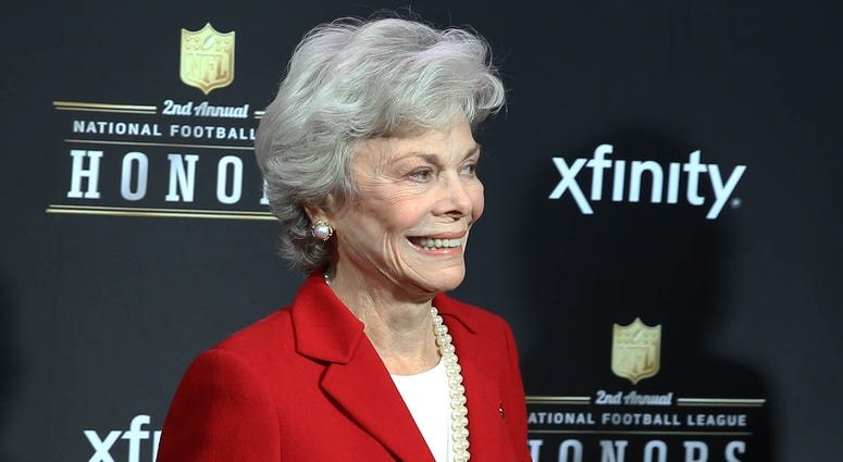 New Orleans, LA, USA: Janice McNair , wife of Houston Texans owner Robert McNair (not pictured) on the red carpet prior to the Super Bowl XLVII NFL Honors award show at Mahalia Jackson Theater.