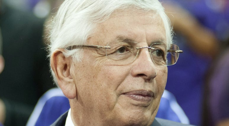 NBA commissioner David Stern looks on before the game between the Sacramento Kings and Denver Nuggets at Sleep Train Arena.