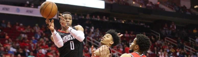 Russell Westbrook Hits 'Extra Gear' For Third Triple-Double In Rockets Uniform