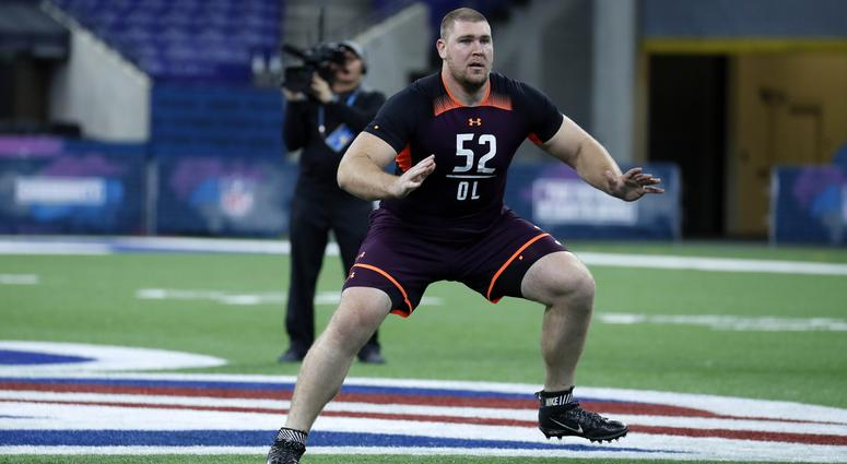 Max Scharping at the draft