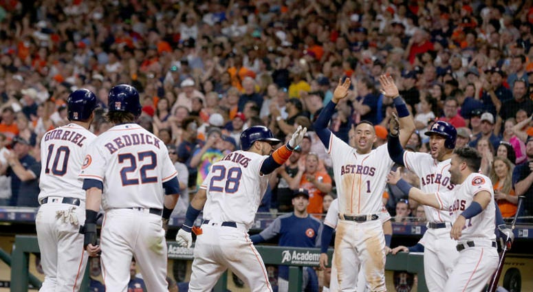 Astros Top Indians, Chirinos Powers Team In 7th | Sports Radio 610 AM