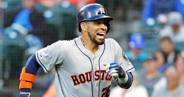 Astros use big 1st inning to hold off Mariners 4-2