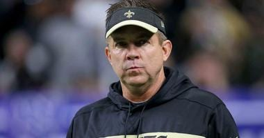 New Orleans Saints head coach Sean Payton on the sideline during the NFC Championship after the 2018 season.