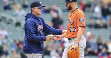 Lance McCullers Jr. ends his outing in Minnesota