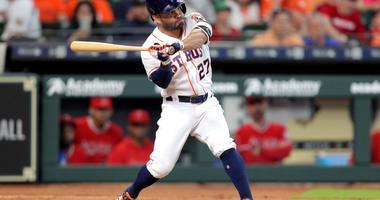 Jose Altuve home run swing