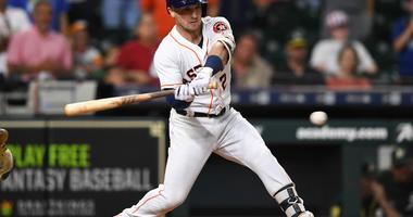 Alex Bregman swings