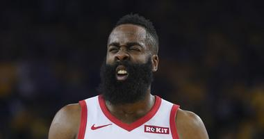 Harden's Eyes Improve, Will Play Saturday