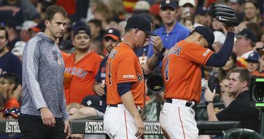 Springer Injures Hamstring In Astros Win Over Red Sox