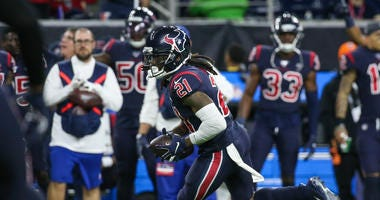 Houston Texans cornerback Bradley Roby (21) during the game against the New England Patriots at NRG Stadium.