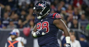 Houston Texans defensive end D.J. Reader (98) during the game against the New England Patriots at NRG Stadium.