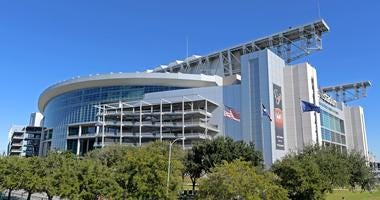 A general view of the stadium before the AFC Wild Card NFL Playoff game between the Houston Texans and the Buffalo Bills at NRG Stadium.