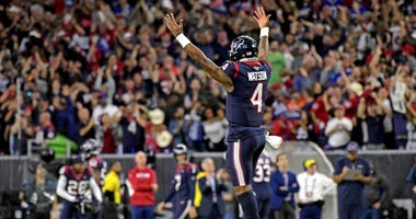 Watson celebrates after touchdown
