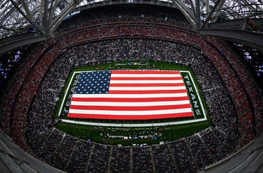 Houston Texans Field American Flag