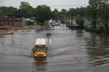 School Bus in Flood