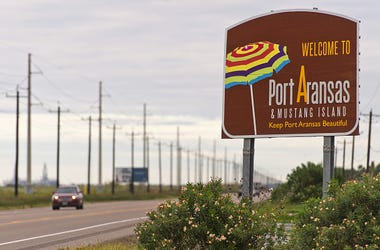 port aransas welcome sign