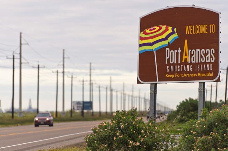 port aransas welcome sign