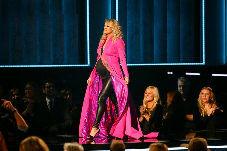 Carrie Underwood appears on the 52nd Annual CMA Awards at the Bridgestone Arena on November 14, 2018 in Nashville, Tennessee