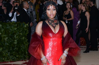 Nicki Minaj walking the red carpet at The Metropolitan Museum of Art Costume Institute Benefit celebrating the opening of Heavenly Bodies : Fashion and the Catholic Imagination held at The Metropolitan Museum of Art in New York, NY, on May 7, 2018.