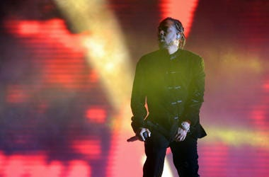 Kendrick Lamar performs during the 2017 Coachella Valley Music and Arts Festival at Empire Polo Club.