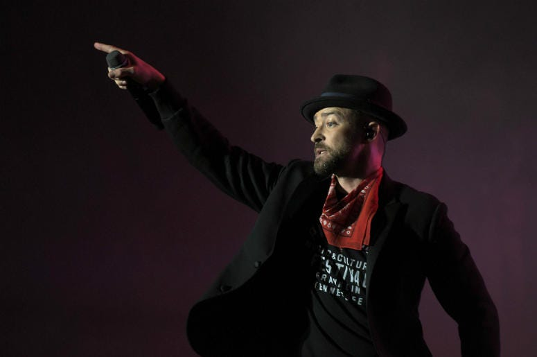 Justin Timberlake performs at Pilgrimage Music & Cultural Festival at The Park at Harlinsdale in Franklin, Tennessee