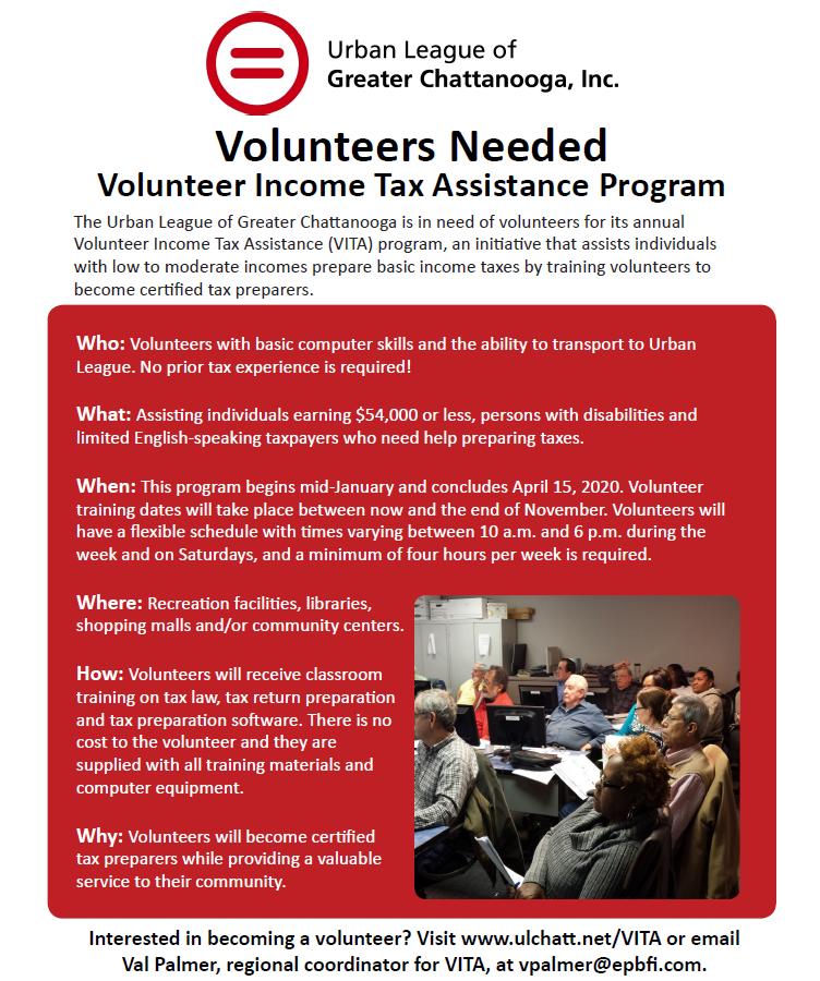 Urban League of Chattanooga Volunteers Needed