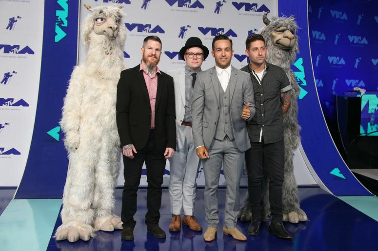 Andy Hurley, Patrick Stump, Pete Wentz and Joe Trohman of Fall Out Boy