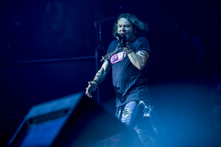 Axl Rose performs at BB&T Center
