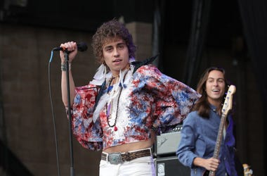 Josh Kiszka of the band 'Greta Van Fleet' performs on stage during Cal Jam 18