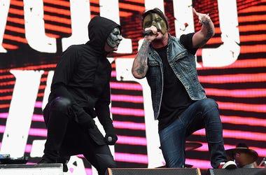 Recording artists Jorel 'J-Dog' Decker (L) and Daniel 'Danny' Murillo of Hollywood Undead
