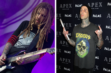 "Korn's Brian ""Head"" Welch and blink-182's Travis Barker"