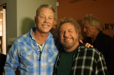 James Hetfield of Metallica with Sammy Hagar