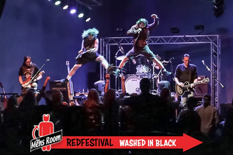 Mens Room Redfestival; Washed in Black