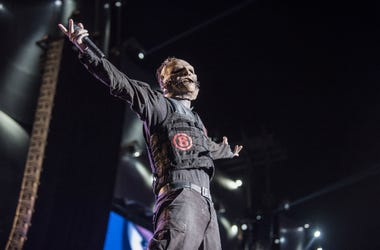 Corey Taylor from Slipknot performs at 2015 Rock in Rio
