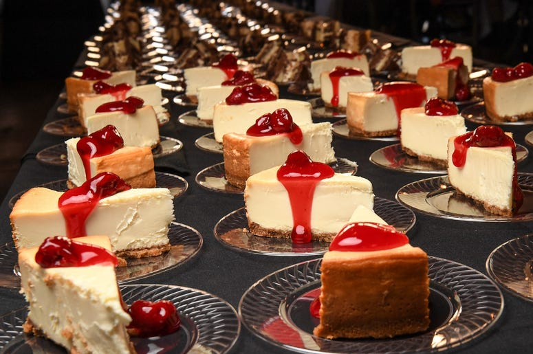 Cheesecake from Sullivan's Metropolitan Grill in downtown Anderson during the 20 Under 40 of Anderson County event at The Bleckley Inn Carriage House in downtown Anderson Monday, October 28, 2019. 20 Under 40 Of Anderson County