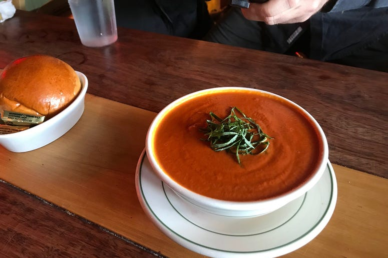 Tomato bisque at Farmhouse Cafe & Eatery Tomato Soup Farmhouse