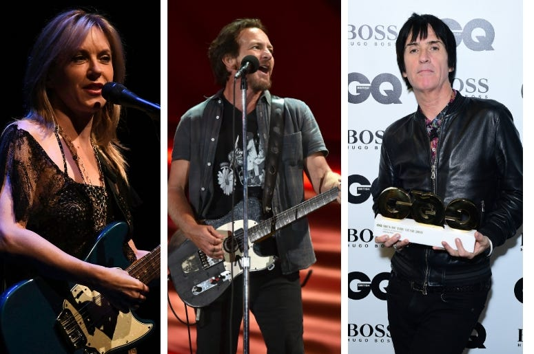 Liz Phair, Eddie Vedder, Johnny Marr