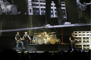 Van Halen in concert at the Amway center in Orlando Florida; with original singer David Lee Roth. The group is on their 2012 North America Tour