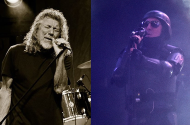 Maynard James Keenan of Tool and Robert Plant of Led Zeppelin
