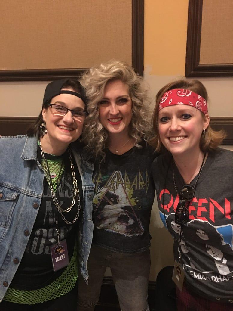 Cathy, Taryn, Robin - Live Day