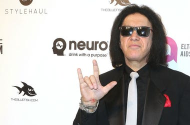 Gene Simmons at Elton John AIDS Foundation's 24th Annual Academy Awards Viewing Party 'Wonderful Crazy Night' held at West Hollywood Park