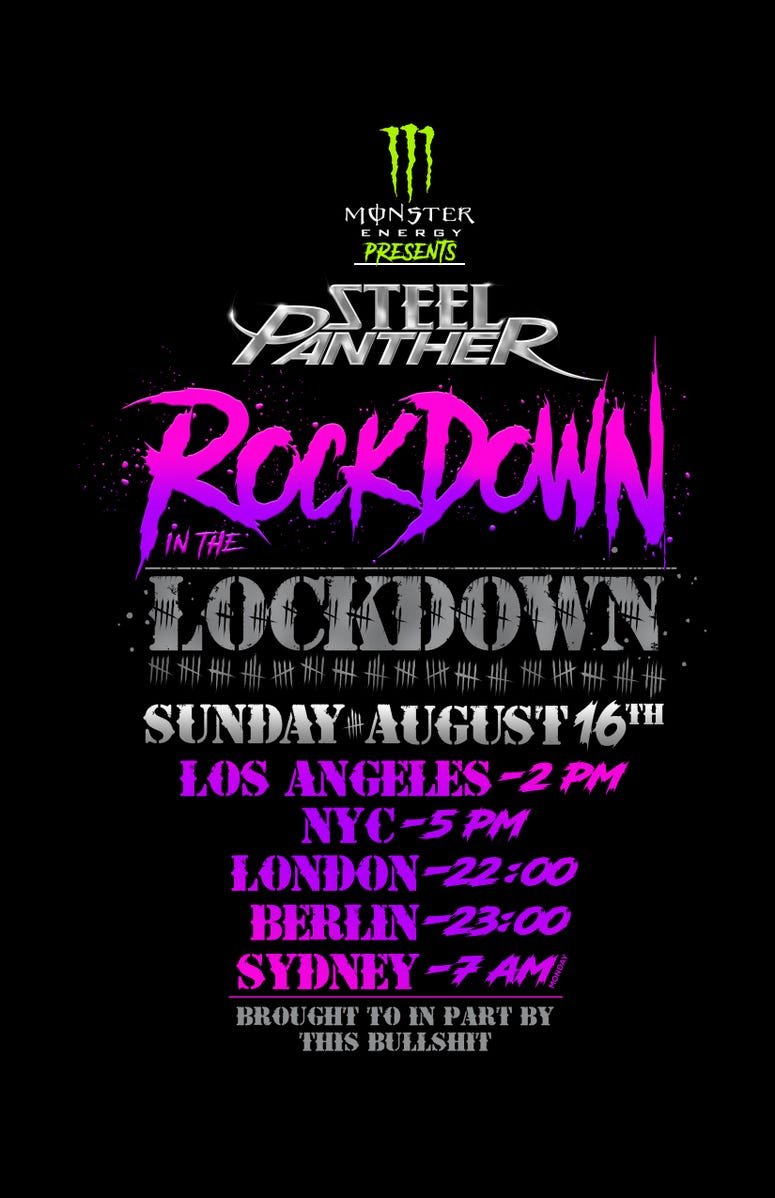 Steel Panther's Rockdown In The Lockdown