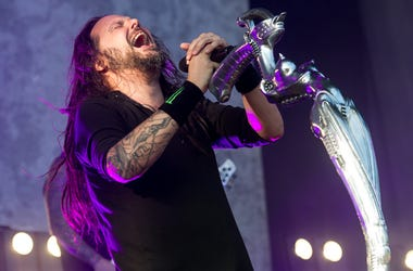 8/27/2017 - Jonathan Davis of Korn performing live on stage on day 3 of Leeds Festival a Bramham Park, UK. Picture date: Sunday 27 August, 2017. Photo credit: Katja Ogrin/ EMPICS Entertainment. (Photo by PA Images/Sipa USA) *** US Rights